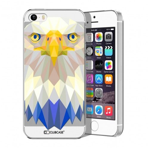 Extra Slim Crystal iPhone 5/5S Case Polygon Animals Eagle