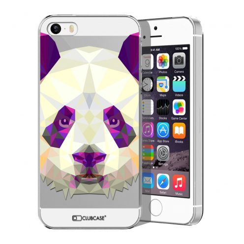 Extra Slim Crystal iPhone 5/5S Case Polygon Animals Panda