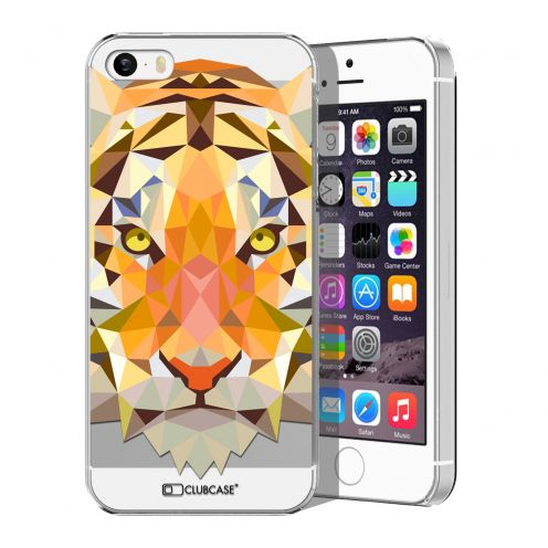 Extra Slim Crystal iPhone 5/5S Case Polygon Animals Tiger
