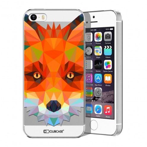 Extra Slim Crystal iPhone 5/5S/SE Case Polygon Animals Fox