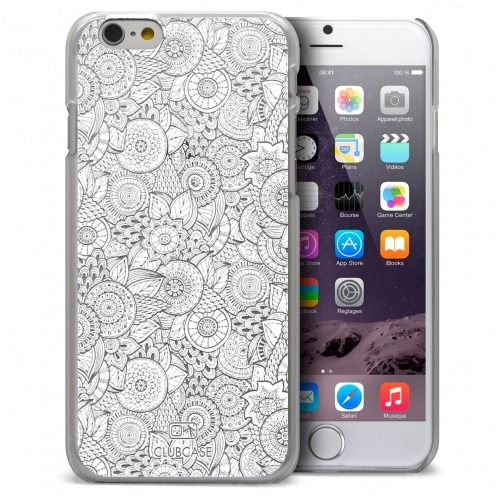 Extra Slim Crystal iPhone 6 Plus Case Case Floral Lace Collection - White