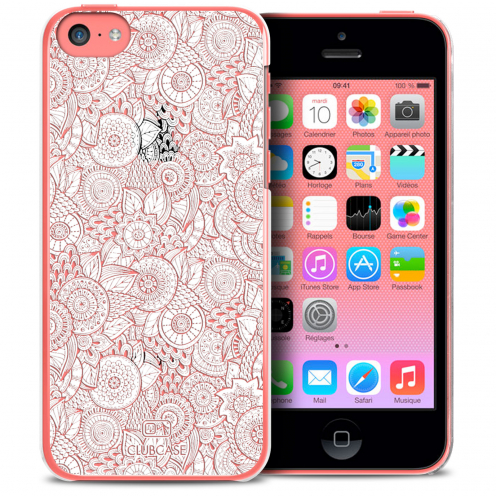 Extra Slim Crystal iPhone 5C Case Case Floral Lace Collection - White