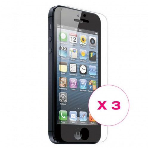 Clubcase ® Ultra Clear HQ screen protector for iPhone 5 / 5S / SE 3-Pack