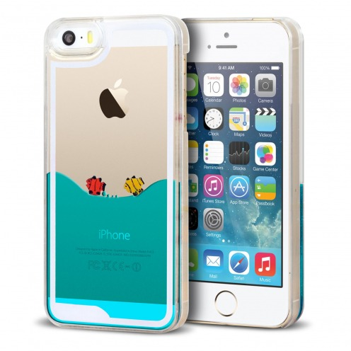 Crystal Liquid Sea and Fishes case for iPhone 5/5S