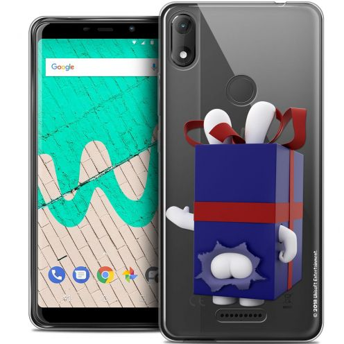 "Crystal Gel Wiko View MAX (6"") Case Lapins Crétins™ Lapin Surprise Bleu"