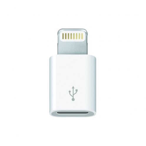 Genuine Apple Adapter micro USB to Lightning 8 pins MD820ZM/A - iPhone 5 / 6 - iPad Mini - iPad Retina - iPad Air