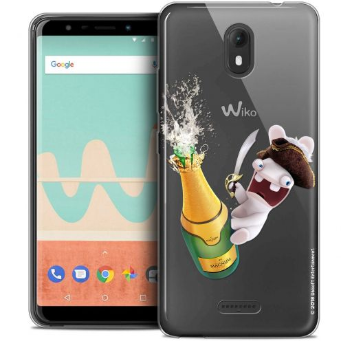 """Crystal Gel Wiko View GO (5.7"""") Case Lapins Crétins™ Champagne !"""