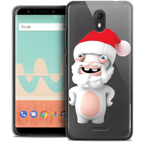 """Crystal Gel Wiko View GO (5.7"""") Case Lapins Crétins™ Lapin Noël"""