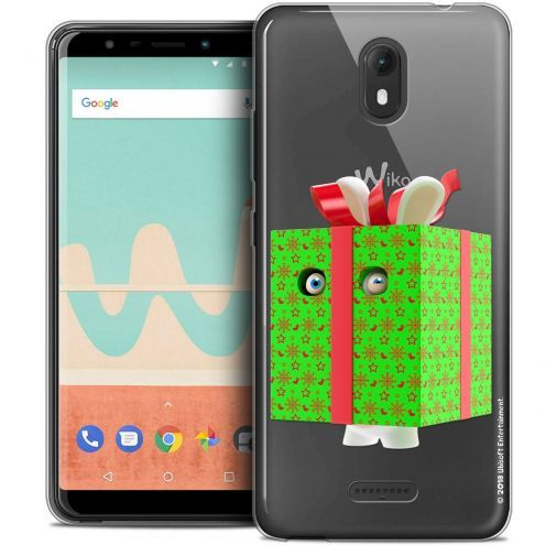 """Crystal Gel Wiko View GO (5.7"""") Case Lapins Crétins™ Lapin Surprise Vert"""