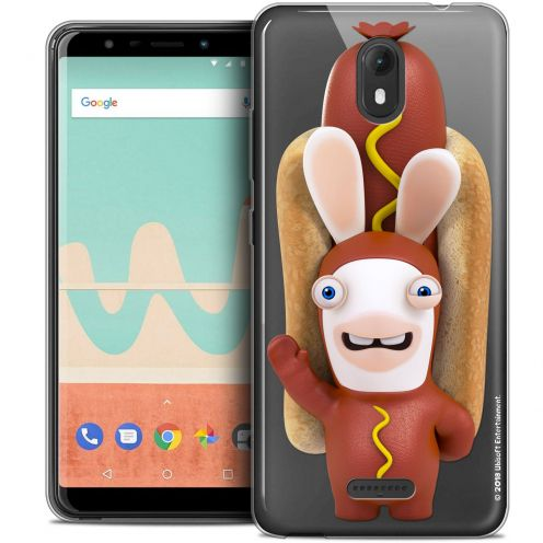 """Crystal Gel Wiko View GO (5.7"""") Case Lapins Crétins™ Hot Dog Crétin"""