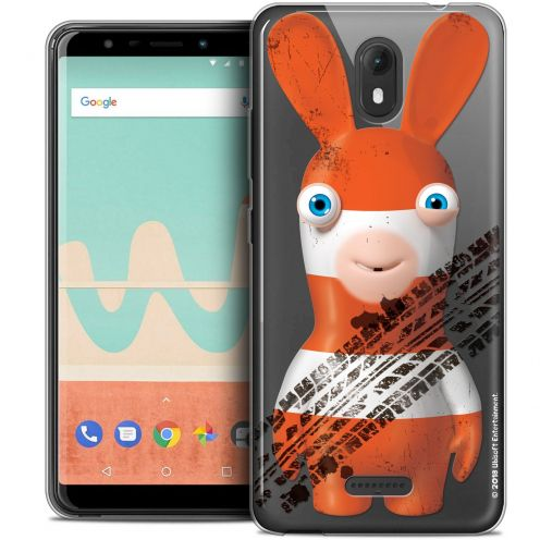 """Crystal Gel Wiko View GO (5.7"""") Case Lapins Crétins™ On the Road"""