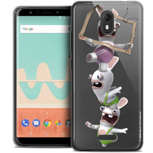"""Crystal Gel Wiko View GO (5.7"""") Case Lapins Crétins™ TV Sport"""