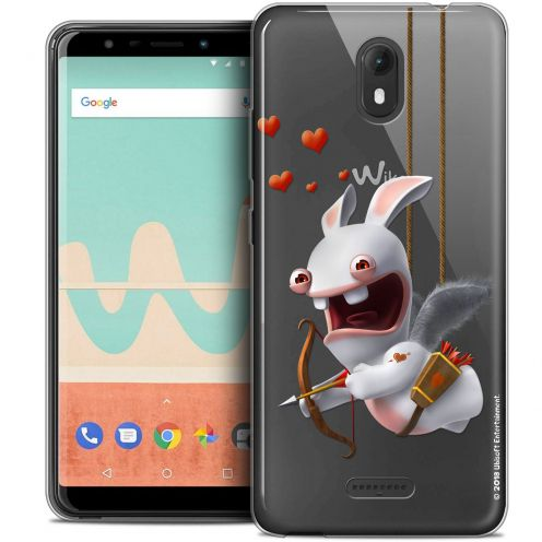 """Crystal Gel Wiko View GO (5.7"""") Case Lapins Crétins™ Flying Cupidon"""