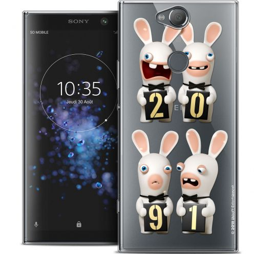 "Crystal Gel Sony Xperia XA2 PLUS (6"") Case Lapins Crétins™ New Year"