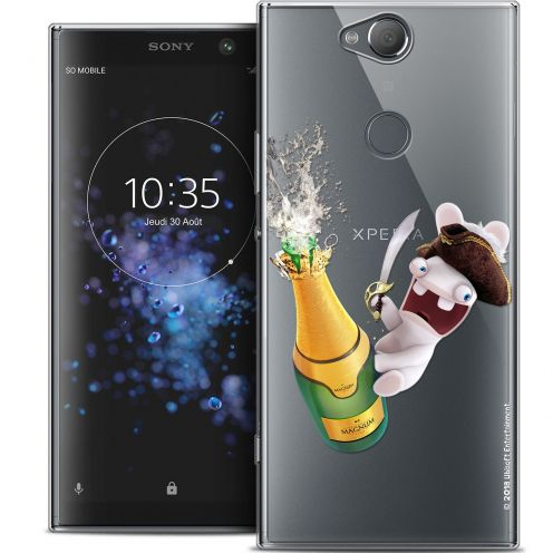 "Crystal Gel Sony Xperia XA2 PLUS (6"") Case Lapins Crétins™ Champagne !"