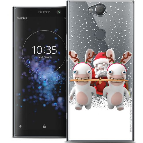"Crystal Gel Sony Xperia XA2 PLUS (6"") Case Lapins Crétins™ Lapin Traineau"