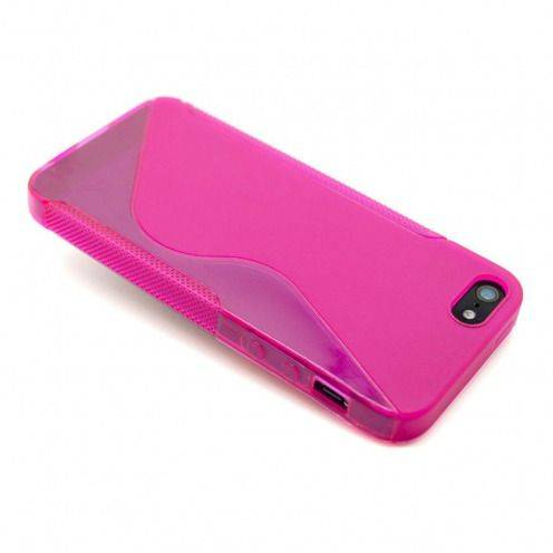 "iPhone 5 SLine TPU ""BASICS"" pink case"