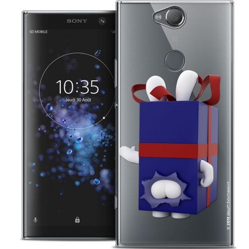 "Crystal Gel Sony Xperia XA2 PLUS (6"") Case Lapins Crétins™ Lapin Surprise Bleu"