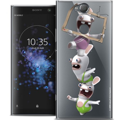 "Crystal Gel Sony Xperia XA2 PLUS (6"") Case Lapins Crétins™ TV Sport"