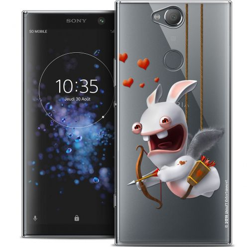 "Crystal Gel Sony Xperia XA2 PLUS (6"") Case Lapins Crétins™ Flying Cupidon"