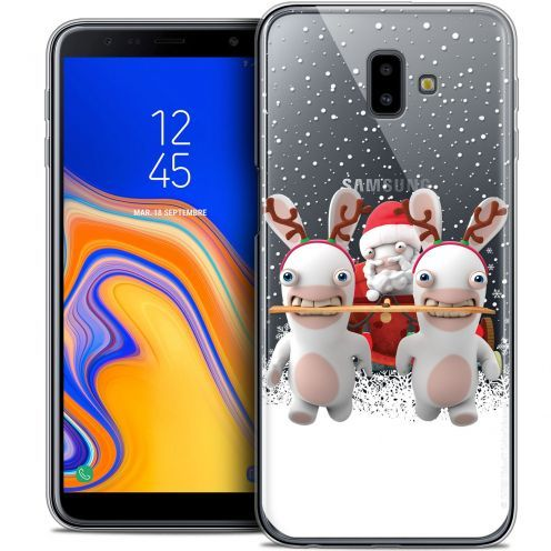 "Crystal Gel Samsung Galaxy J6 Plus J6+ (6.4"") Case Lapins Crétins™ Lapin Traineau"