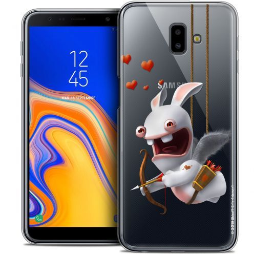 "Crystal Gel Samsung Galaxy J6 Plus J6+ (6.4"") Case Lapins Crétins™ Flying Cupidon"