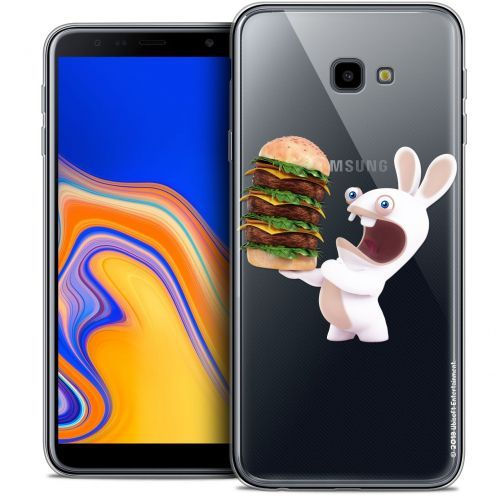 "Crystal Gel Samsung Galaxy J4 Plus J4+ (6"") Case Lapins Crétins™ Burger Crétin"
