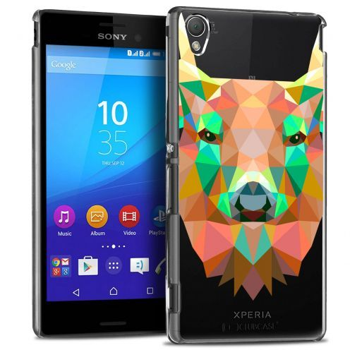 Extra Slim Crystal Xperia M4 Aqua Case Polygon Animals Deer