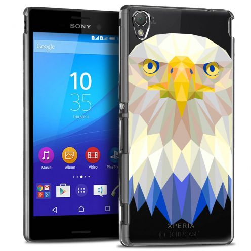 Extra Slim Crystal Xperia M4 Aqua Case Polygon Animals Eagle