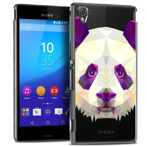 Extra Slim Crystal Xperia M4 Aqua Case Polygon Animals Panda
