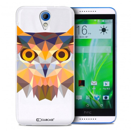 Extra Slim Crystal Desire 620 Case Polygon Animals Owl