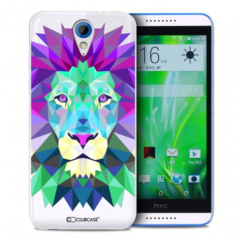 Extra Slim Crystal Desire 620 Case Polygon Animals Lion