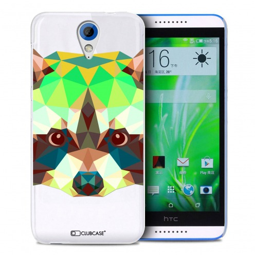 Extra Slim Crystal Desire 620 Case Polygon Animals Racoon