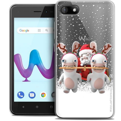 """Crystal Gel Wiko Sunny 3 (5"""") Case Lapins Crétins™ Lapin Traineau"""