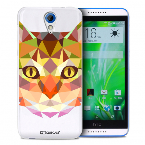 Extra Slim Crystal Desire 620 Case Polygon Animals Cat
