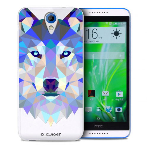 Extra Slim Crystal Desire 620 Case Polygon Animals Wolf