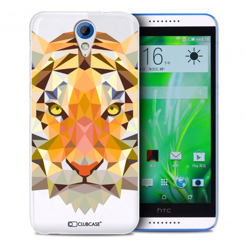 Extra Slim Crystal Desire 620 Case Polygon Animals Tiger