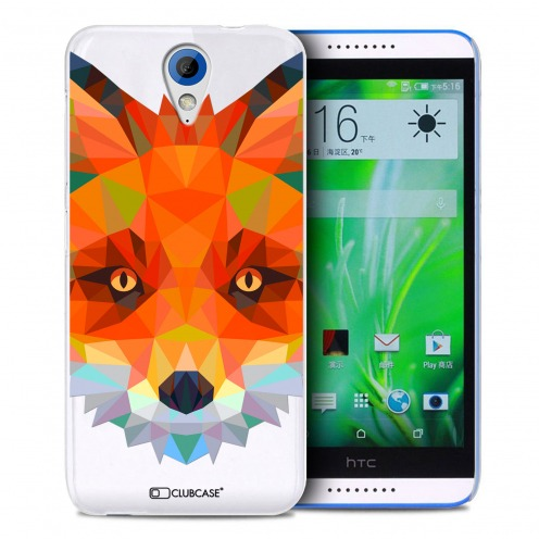 Extra Slim Crystal Desire 620 Case Polygon Animals Fox