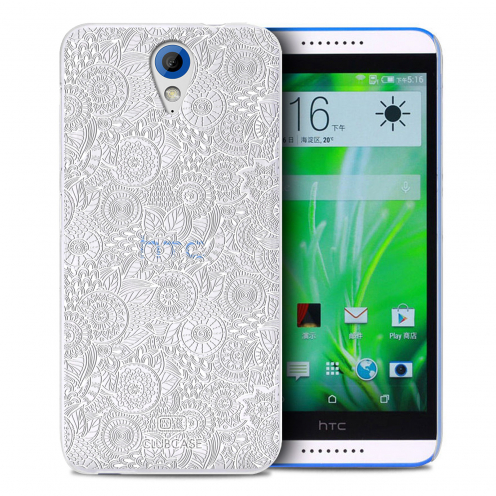 Extra Slim Crystal Desire 620 Case Case Floral Lace Collection - White