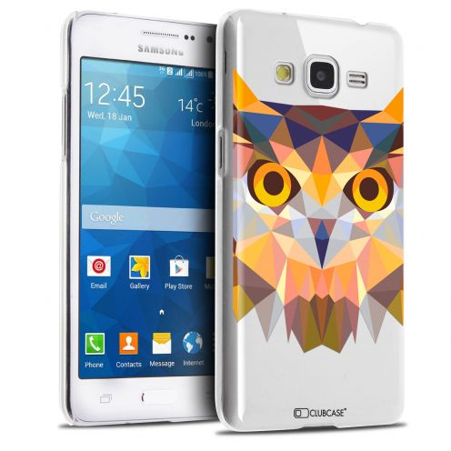 Extra Slim Crystal Galaxy Grand Prime Case Polygon Animals Owl