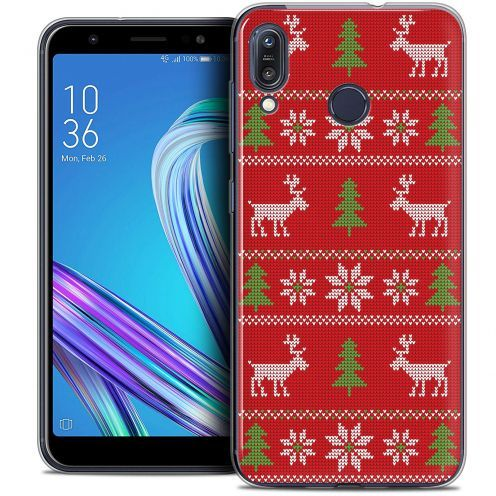 """Extra Slim Crystal Gel Asus Zenfone Max (M1) ZB555KL (5.5"""") Case Noël 2017 Couture Rouge"""