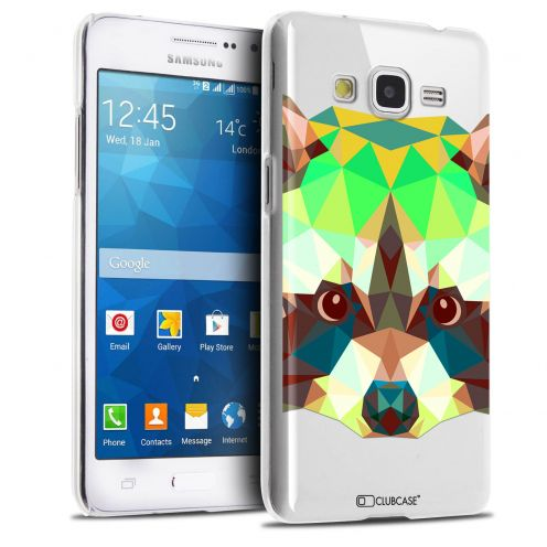 Extra Slim Crystal Galaxy Grand Prime Case Polygon Animals Racoon