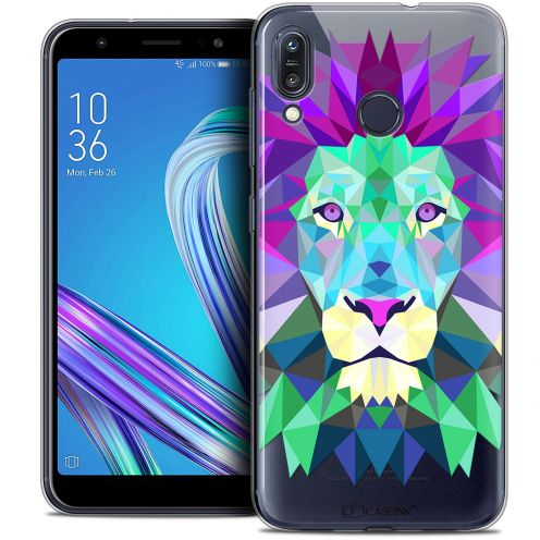 "Extra Slim Crystal Gel Asus Zenfone Max (M1) ZB555KL (5.5"") Case Polygon Animals Lion"