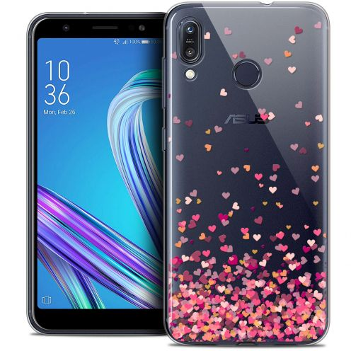 "Extra Slim Crystal Gel Asus Zenfone Max (M1) ZB555KL (5.5"") Case Sweetie Heart Flakes"