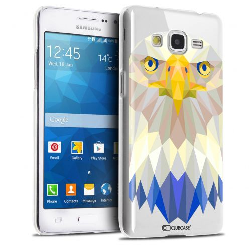 Extra Slim Crystal Galaxy Grand Prime Case Polygon Animals Eagle