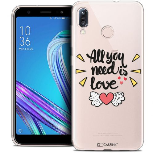 """Extra Slim Crystal Gel Asus Zenfone Max (M1) ZB555KL (5.5"""") Case Love All U Need Is"""