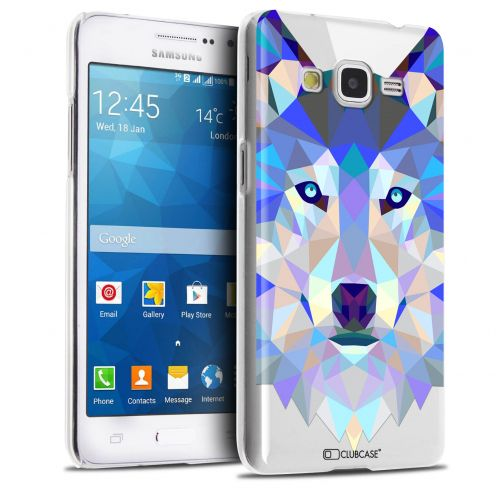 Extra Slim Crystal Galaxy Grand Prime Case Polygon Animals Wolf
