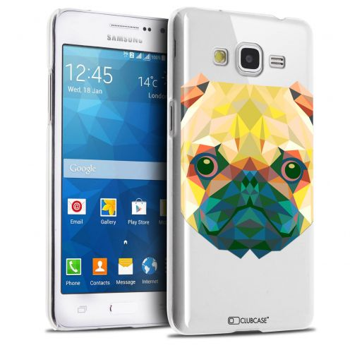 Extra Slim Crystal Galaxy Grand Prime Case Polygon Animals Dog
