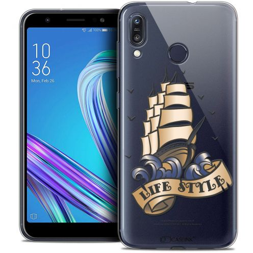 """Extra Slim Crystal Gel Asus Zenfone Max (M1) ZB555KL (5.5"""") Case Tatoo Lover Life Style"""
