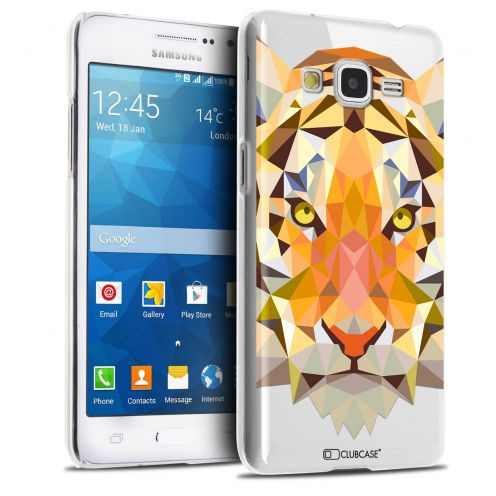 Extra Slim Crystal Galaxy Grand Prime Case Polygon Animals Tiger